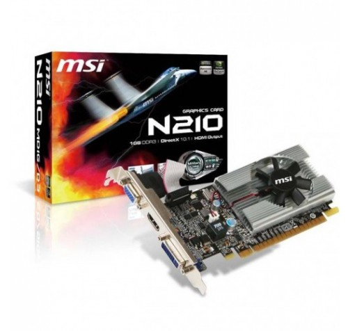 TARJETA DE VIDEO MSI N210 1GB DDR3 LOW
