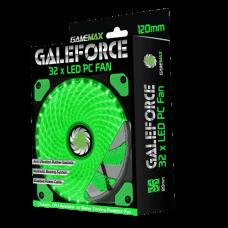 COOLER GAMEMAX GALEFORCE 32 LED GREEN 120MM (GMX-GF12G)