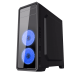 GABINETE GAMER GAMEMAX G561-F BLUE (3 FAN INCLUIDOS VENTANA COMPLETA ACRÍLICO)