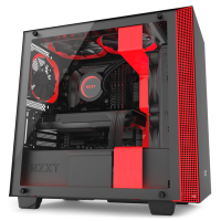 GABINETE NZXT H400I RGB BLACK /RED