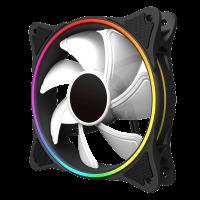 COOLER GAMEMAX 120MM MIRAGE RAINBOW RGB WHITE  FN12RAINBOW-W