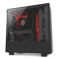 GABINETE NZXT H500 BLACK/RED