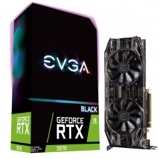 Tarjeta de Video EVGA GeForce RTX 2070 XC BLACK EDITION GAMING 8GB GDDR6 Dual HDB Fans & RGB LED