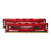 CRUCIAL BALLISTIX SPORT LT RED 16GB Kit (2 x 8GB) 2400MHz