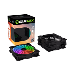 COOLER KIT GAMEMAX CL300 FAN RGB 3 FAN 120MM CONTROLADOR REMOTO RF